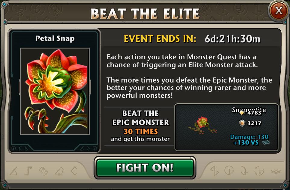 Boss Event : Snappetite Epic Monster